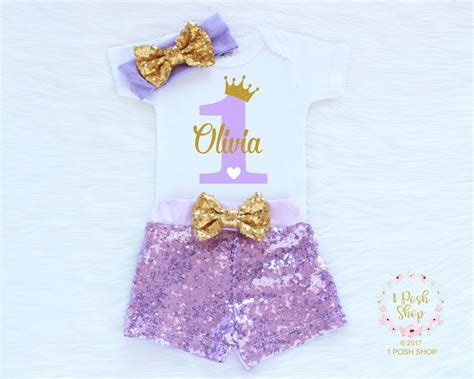 Personalized First Birthday Outfit Girl 1st Birthday Girl