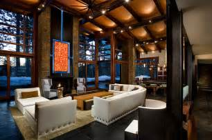 mountain homes interiors modern mountain home contemporary living room by imi design