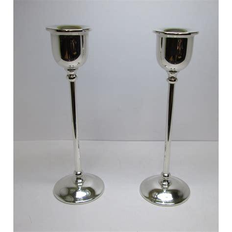 candelieri argento due candelieri cassetti in argento moderni usati fatti