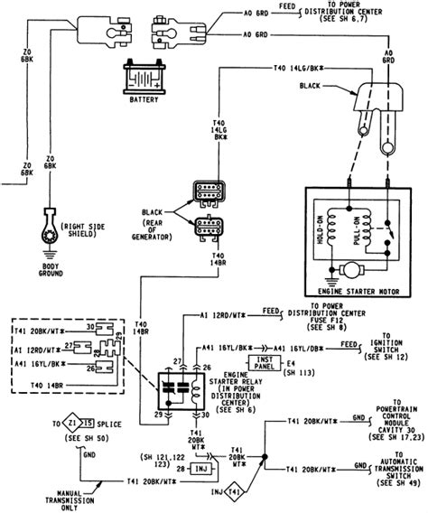2007 Jeep Commander Starter Wiring by 1994 Jeep Grand Restart The Batter Was Totally