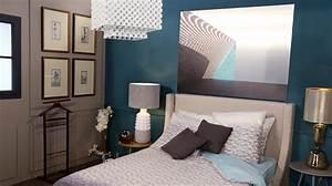 Chambre Gris Et Bleu : chambre bleu gris blanc fascinant chambre bleu et taupe ~ Melissatoandfro.com Idées de Décoration