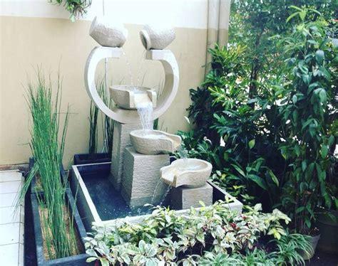model taman kolam minimalis beserta air mancur taman