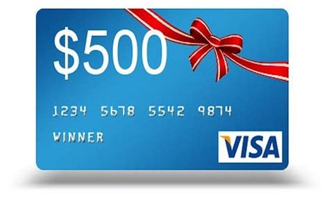 The visa virtual gift card can be redeemed at every internet, mail order, and telephone merchant everywhere visa debit. $500 Visa Gift Card Sweepstakes
