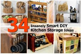 Smart Storage Ideas Small Kitchens Smart Diy Kitchen Storage1