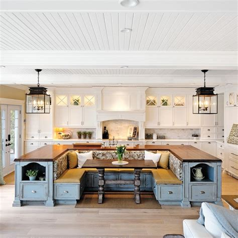 Kitchen Island With Built In Seating  Home Design, Garden