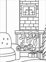 Coloring Pages Christmas Chimneys Chimney Printable Template Holiday Recommended Templates sketch template