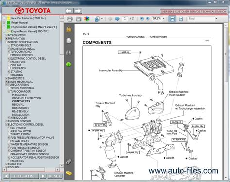 toyota on line toyota yaris verso echo verso repair manuals download