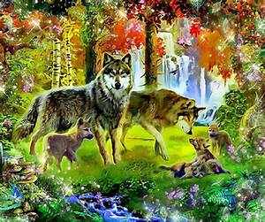 2018 Diamond Painting Embroidery Wolf Family Diy Full