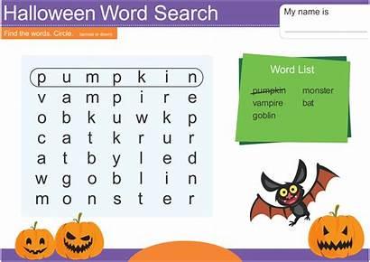 Word Printable Halloween Easy Printablee