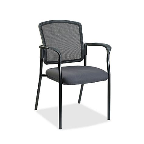 lorell breathable mesh guest chair fabric gray seat steel