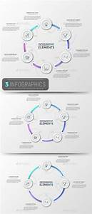 Modern Infographic Cycle Templates  3 Items  Psd  Vector