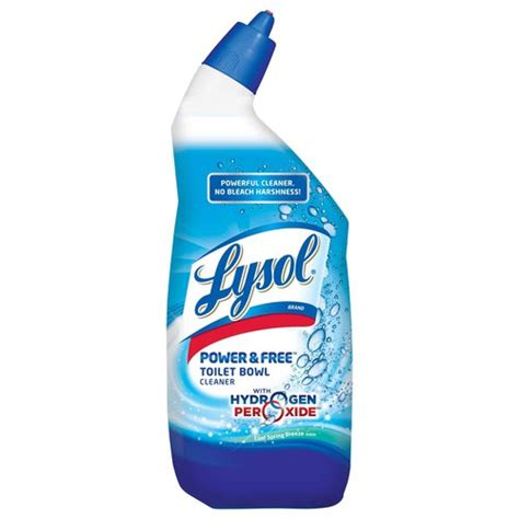 lysol bathroom cleaner with hydrogen peroxide lysol power free toilet bowl cleaner with hydrogen