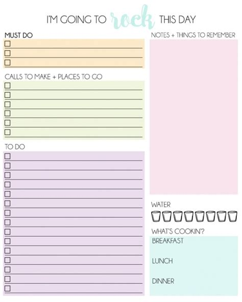free daily calendar 2015 free daily planner printable calendar template 2016
