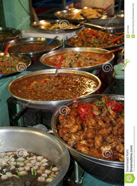 asian thai kitchen thai kitchen spicy asian food buffet stock image