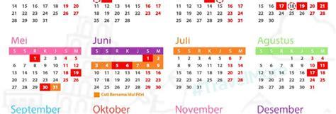 kalender kalender libur rekomendasi cuti