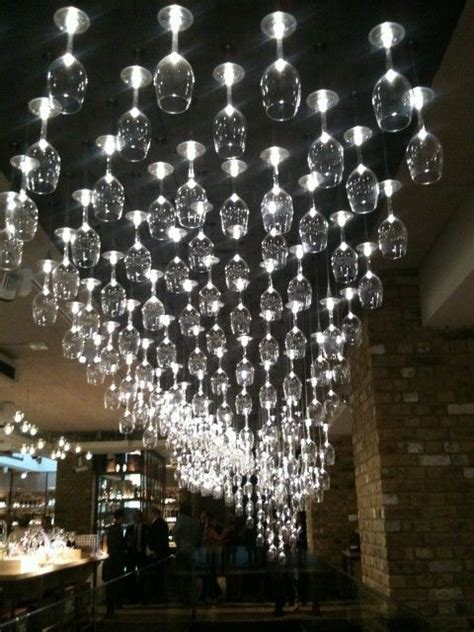 glass light fixture wine recycled