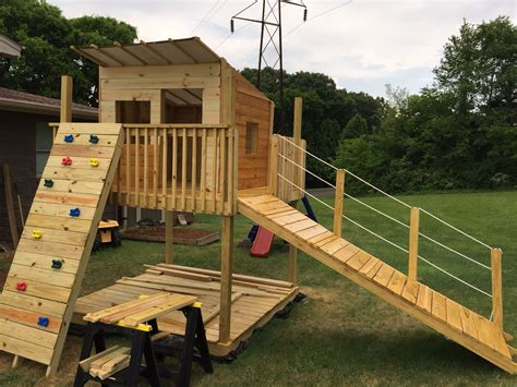 ana white play fort  swing set diy projects play