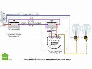 Eclairage Sans Branchement Electrique : avec un fibaro fgd 212 va et vient sans neutre bouton poussoir et des ampoules incandescentes ~ Melissatoandfro.com Idées de Décoration