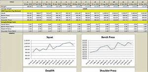 3 weight training spreadsheet templates excel xlts With weight lifting template excel