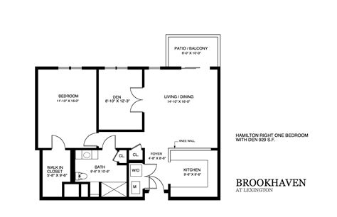 Floor Plans by Brookhaven Apartment Floor Plans