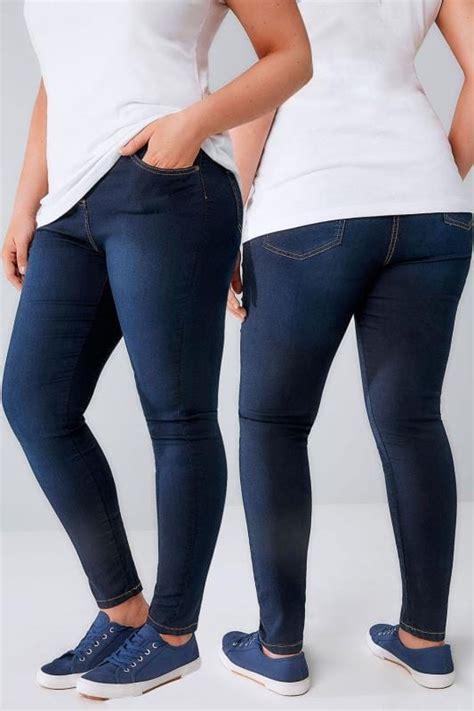 indigo blue super stretch skinny ava jeans  size