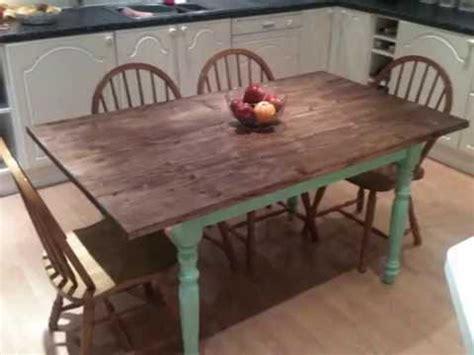 shabby chic farmhouse kitchen tablewmv youtube