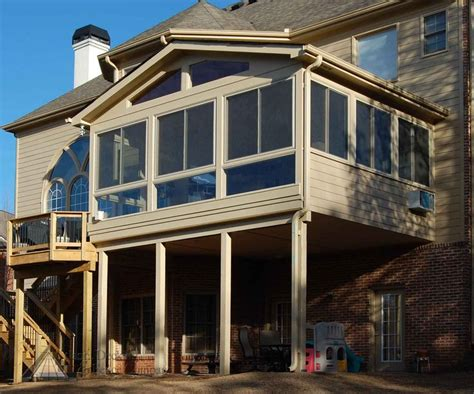 floor enclosed porch patio roof  story deck  seasons room