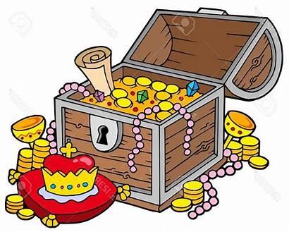 Treasure Clipart Chest Precious Pirate Clip Coloring