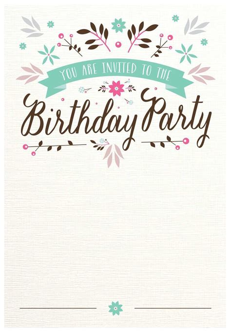 Invitation Card Template For 18Th Birthday Cards Design