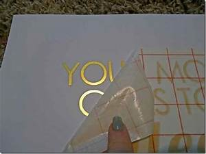 how to make gold foil prints damn i want a silhouette With foil transfer letters