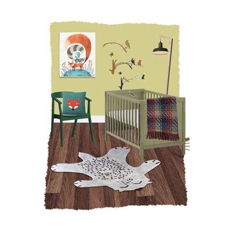 tapis animaux de la jungle tapis renard fox gris pour chambre d enfant