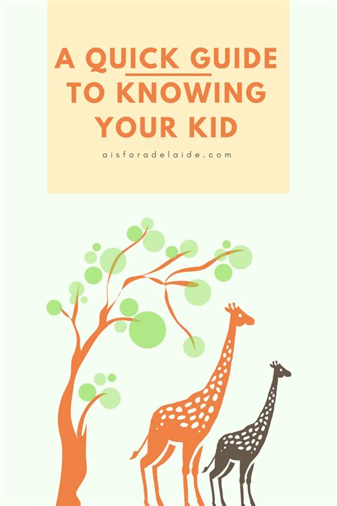 A Quick Guide To Knowing Your Kid  A Is For Adelaide And