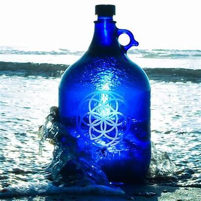 Bottle Liter Five Sandblasted Glass Jug Resistant