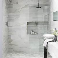 marble tile bathroom These faux marble tiles have got everyone talking