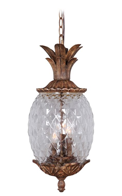 Hanging Porch Lights by Marianahome Pineapple 3 Light Pendant Reviews Wayfair