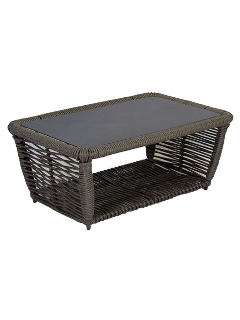 outdoor resin wicker end table furniture belladonna resin wicker outdoor coffee table
