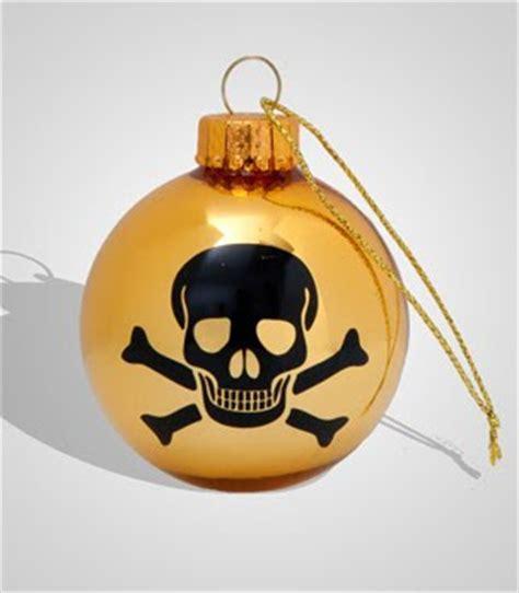 toxiferous designs skull christmas ornaments