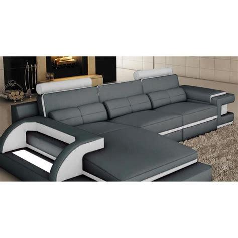 canapé d angle gris pas cher canape cuir d angle pas cher maison design modanes com