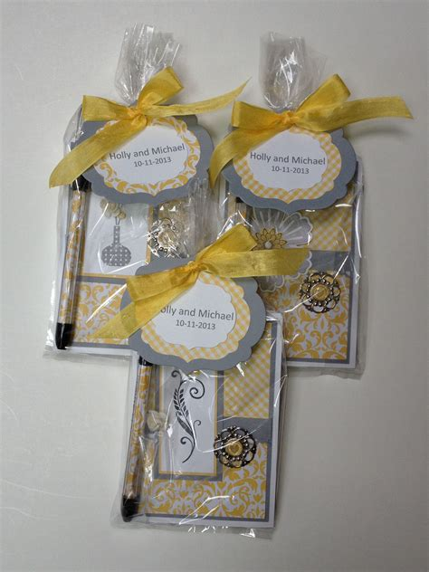 diy 3 quot 5 quot notepad shower favors yes i do lets plant our weeding bridal shower favors