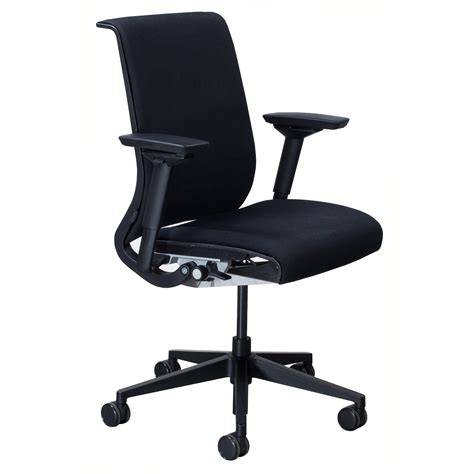 steelcase think used task chair black national office