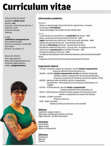 Cv Word by Curriculum Vitae Plantilla Word Modelo De Curriculum Vitae