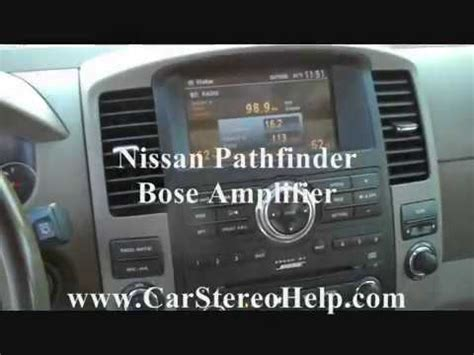 nissan pathfinder amplifier removal  replacement youtube