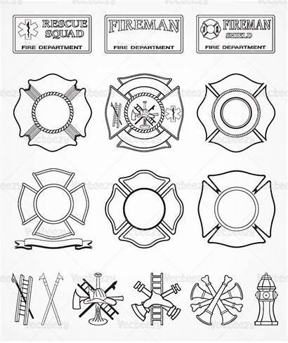 Fire Department Firefighter Vector Clipart Clip Cross