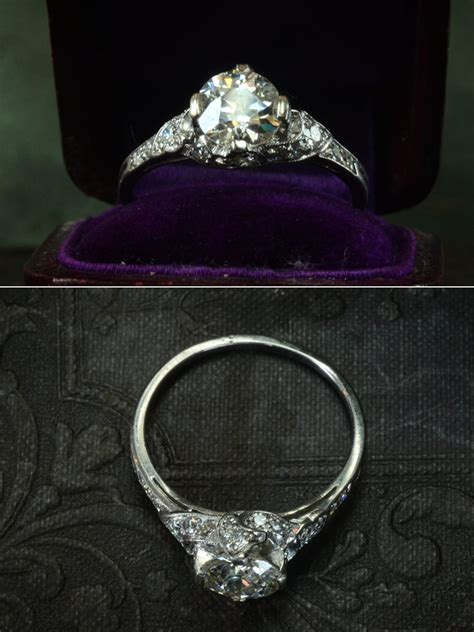 lovely antique engagement rings  erie basin  brooklyn