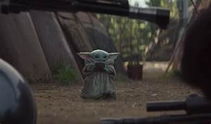 wars baby yoda sipping soup becomes the mandalorian