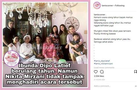 Nikita Mirzani Tak Hadir Ulang Tahun Ibunda Dipo Latief