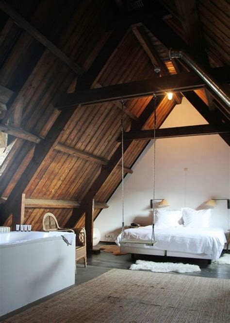 Rustic style attic design - a corner full of passion