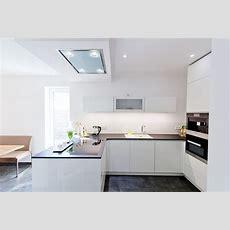 Hochglanz Weiße Design Küche Grifflos Mit Großer Kühl