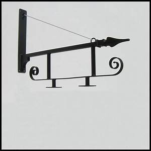 Gothic Wrought Iron Sign Bracket