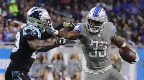 detroit lions top panthers   lose kerryon johnson